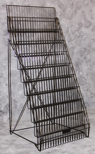 10 Tier Magazine Rack Wire Display Stand Foldable Rack