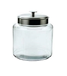 '1.5 Gallon Montana Glass Jar w/Aluminum Lid' from the web at 'http://www.candyconceptsinc.com/assets/images/15-gallon-montana-glass-jar-aluminum-lid_thumbnail.jpg'
