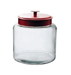 1.5 Gallon Montana Glass Jar w/Red Metal Lid