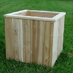 16 in. Cedar Cubed Planter