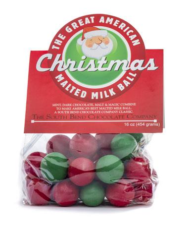 CHRISTMAS Malt Balls 1lb - 20ct