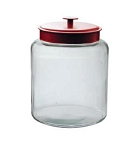 2 Gallon Montana Glass Jar w/Red Metal Lid