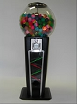 4 Foot Black Gumball Machine