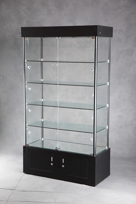 Lighted Tower Display Case | Display Cabinet | Lighted Floor Display