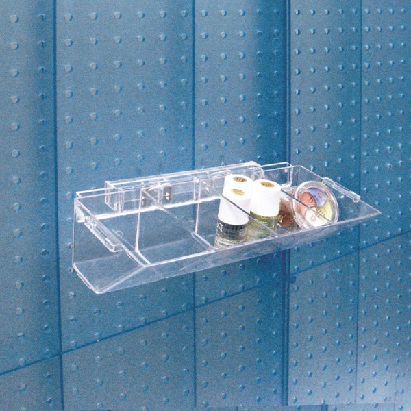 4 Compartment Pegboard Slatwall Tray Accessories
