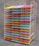 ''White Slot Rack for 8.5'''' x 11'''' Paper - 45 Slots''