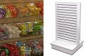 White Slatwall Candy Rack - 20 Visi Bins