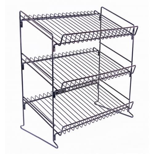 3 Shelf Counter Display Rack Retail Fixture C Store