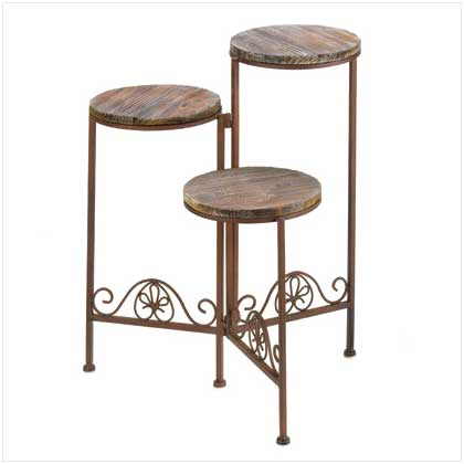 3 Tier Rustic Plant Stand Floral Display Plant Holder