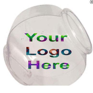 1 gallon logo cookie jar fish bowl wholesale fish bowls for Plastic fish bowls bulk