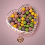 3.75in Clear Plastic Heart Containers - 36ct