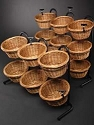 Short 6 Basket Wicker Display