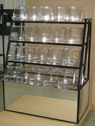 4 Tier Mirrored Candy Rack | Retail Candy Rack | Bulk ...