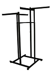 4-Way Hi Capacity Rack - Straight Arms Black