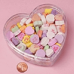 4.5 in. Clear Plastic Heart Containers -36ct