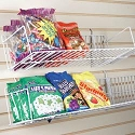 Angled Wire Shelves For Slatwall/Pegboard - 48
