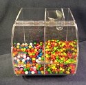 2 Compartment Candy Bin
