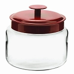 '48 oz Mini Montana Jars w/Red Metal Lid' from the web at 'http://www.candyconceptsinc.com/assets/images/48-oz-mini-montana-jars-red-metal-lids-1b_thumbnail.jpg'