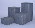 Square Wooden Pedestal 4 pc Set