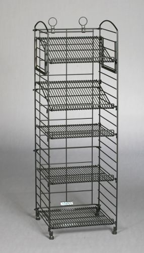 Bronze HAMMER Tone 5 Shelf Fold Up Rack