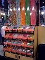 Candy Display Rack w/ Divided Bins - Queen 4'