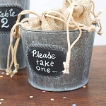 Round Metal Pot with Chalkboard 5