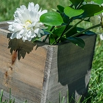 Square Rustic Barn Wood Box 6