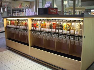 Locking Candy Kiosk Bulk Candy Display Grocery Store