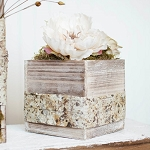 Square Rustic Whitewash Wood Box 7