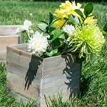 Square Rustic Barn Wood Box 7