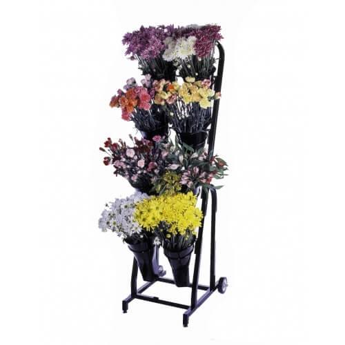 8 Vase Floral Cart Flower Display Stand Retail Fixture