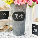 Round Metal Pot with Chalkboard 8.5