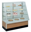 Slant Front Bakery Display - Non Refrigerated - 48