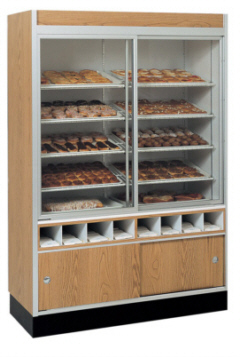 Pastry Doughnut Service Wall Case Non Refrigerated Display