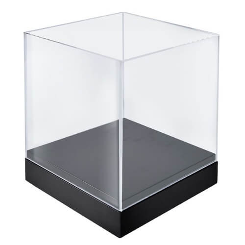 10 deluxe clear cube showcase acrylic cube square cube. Black Bedroom Furniture Sets. Home Design Ideas