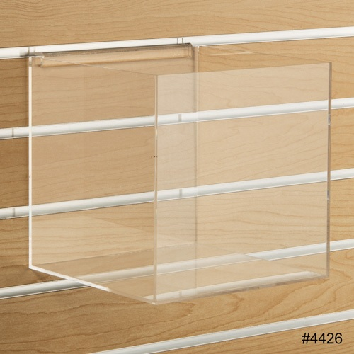 8 Quot Acrylic Slatwall Cube Clear Bins Slatwall Containers