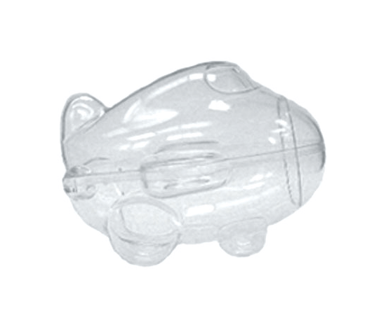 Airplane Clear Favor Boxes : Airplane candy box gift favors plastic holders