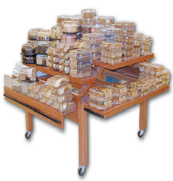 'Bakery Tables' from the web at 'http://www.candyconceptsinc.com/assets/images/Bakery-Display-Retail-Tables.png'