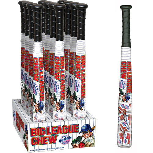 Big League Baseball Bats W Gumballs Baseball Chewing Gum