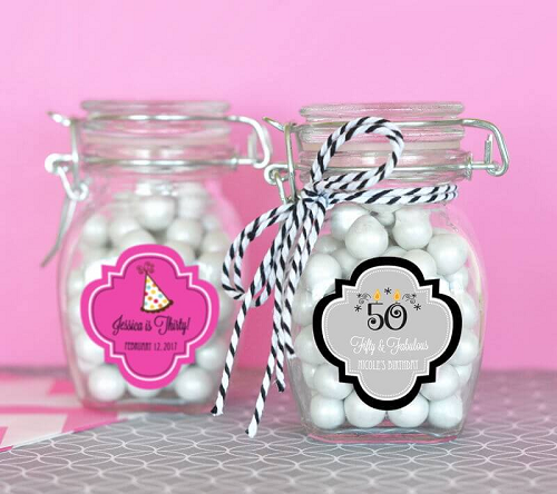 Birthday Favors Small Glass Jars Personalized Gift Ideas
