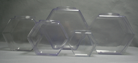 Plastic Hexagon Containers Containers With Lids Candy Bins