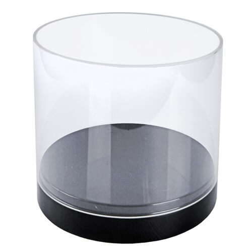 Deluxe Clear Cylinder Showcase Acrylic Container Vase