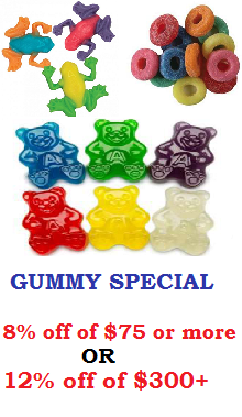 Discount on Gummy Candy