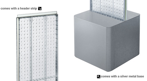 Pegboard Display Free Standing Tower Retail Fixture