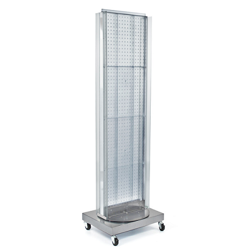 Revolving Pegboard Floor Stand Pegboard Retail Display
