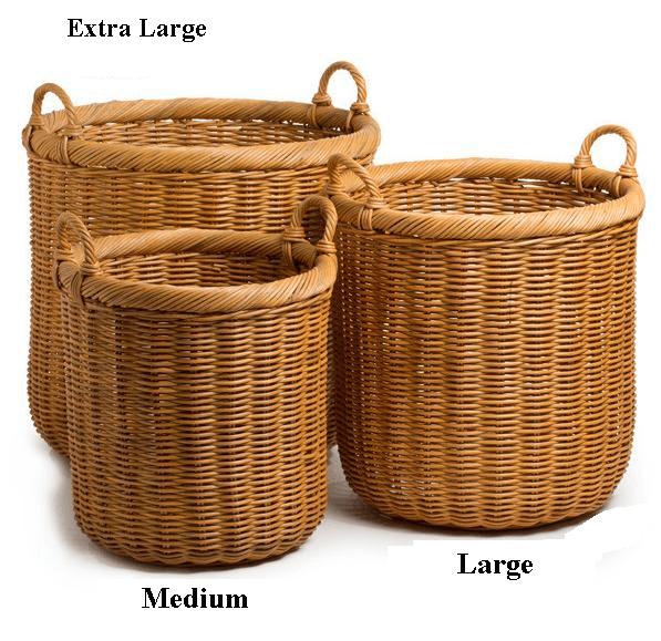 Large Wicker Storage Basket Round Baskets Handmade