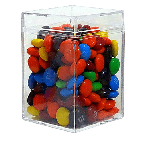 Medium Clear Favor Boxes : Medium square box clear candy bin gift favor