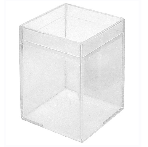 Medium Clear Favor Boxes : Clear medium square box plastic container candy favor