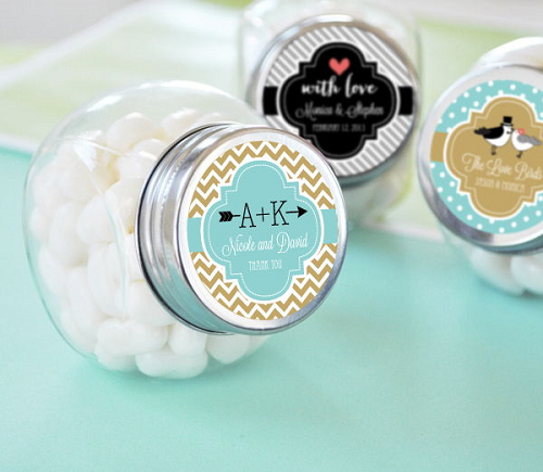 Traditional Wedding Personalized Candy Jars Gift Ideas