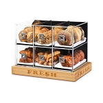 Bakery Case w/Bamboo Base - 6 Drawer